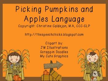 Picking Pumpkins and Apples Language