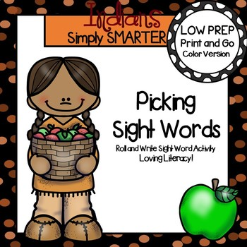 Picking Sight Words:  LOW PREP American Indian Themed Sight Word Activity