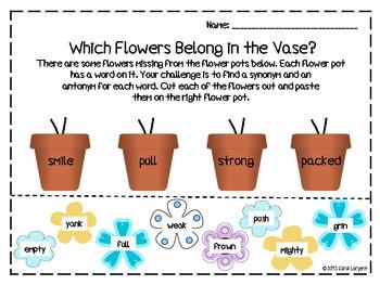 Picking Synonyms & Antonyms