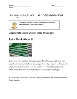 Picking Units of Measurement to use