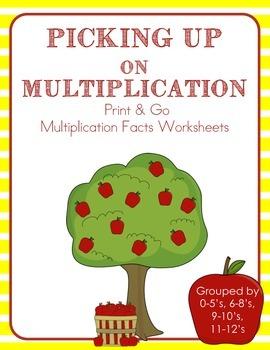 Picking Up on Muliplication Facts Worksheet
