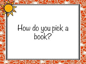 Picking a Just Right Book