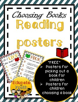 """Picking a """"Just Right"""" book - FREE RESOURCE"""