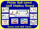 Pickle Ball Word Wall Display: Skill, Graphics & Game Terms