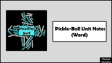 Pickle-Ball Unit Notes (Word)