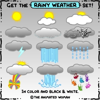 PickleWeasel PRINTABLES - Rainy Day Dressup - BLACK & WHITE