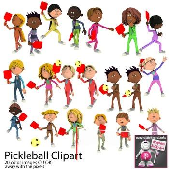 Pickleball Sport Clip Art for PE