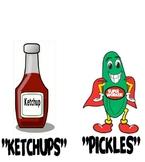 Pickles and Ketchup Printable
