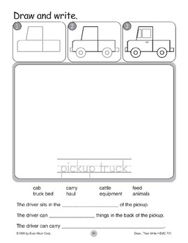 Pickup Truck (Draw...Then Write)