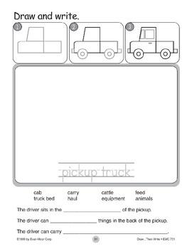 Pickup Truck (Draw...Then Write)