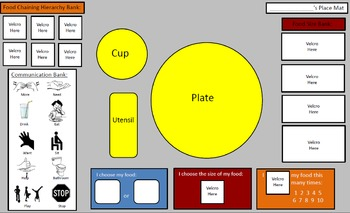 Cafeteria Behaviors - Picky Eater Place Mat