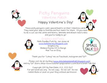 Picky Penguins Valentine Freebie