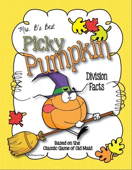 Picky Pumpkin Card Game: Division Facts