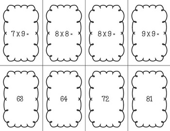 Picky Pumpkin Card Game: Multiplication Facts