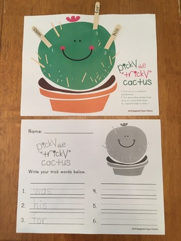 "Picky the ""Tricky"" Cactus"