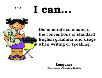 Picnic 1st grade English Common core standards posters