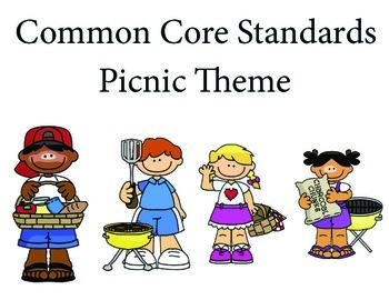 Picnic 3rd grade English Common core standards posters