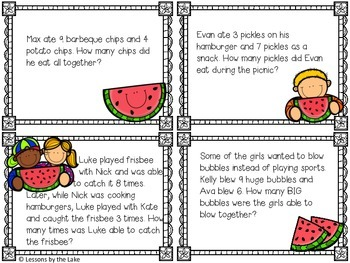 Picnic Addition & Subtraction Word Problems
