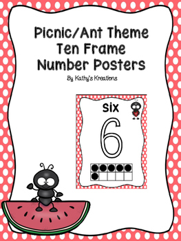 Picnic/Ant Number Posters