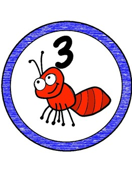 Picnic/Ant Theme Table Numbers