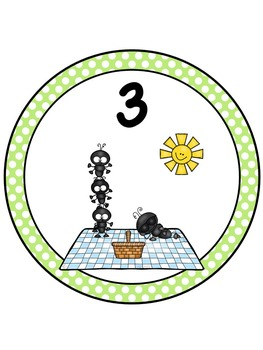 Picnic/Ant Table Numbers FREE