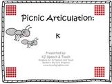 Picnic Articulation - k