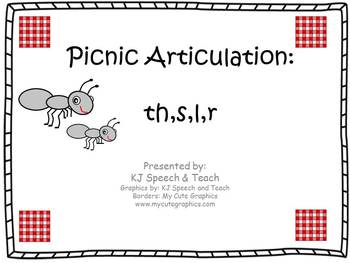 Picnic Articulation th, s, l, r