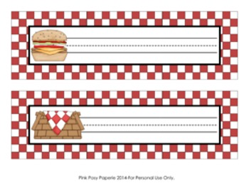 Picnic Barbecue Desk Name Plates