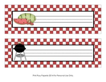 Picnic Barbecue Desk Name Plates