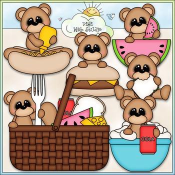 Picnic Bears Clip Art - Picnic Clip Art - Bears Clip Art -