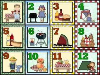 Picnic Calendar Set