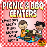 Picnic Centers BBQ Activities Literacy Math Summer Spring