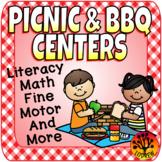 Picnic Centers BBQ Activities Literacy Math Summer Spring