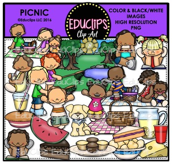 Picnic Clip Art Big Bundle {Educlips Clipart}
