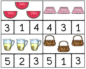 Picnic Counting Cards