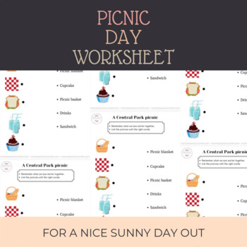 Picnic Day Vocabulary Worksheet