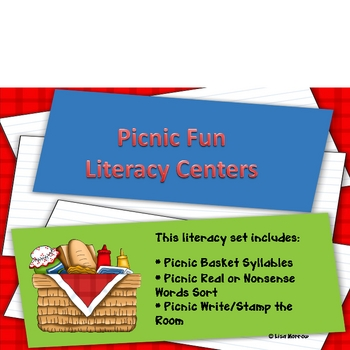 Picnic Fun Literacy Centers