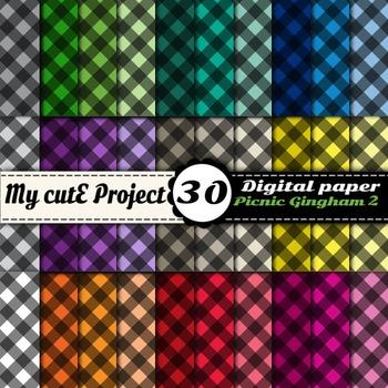 Picnic Gingham 2 - DIGITAL PAPER - Instant Download - Scra