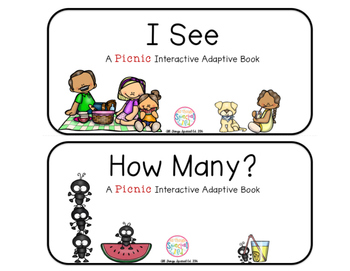 "Picnic Interactive Adaptive books - set of 2 (""I See and ""How Many?)"