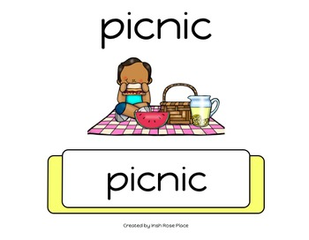 Picnic Leveled Word Books (Adapted Books)
