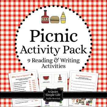 Summer Picnic Literacy for Kindergarten and First Grade