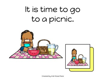Picnic Matching Book (Adapted Book)