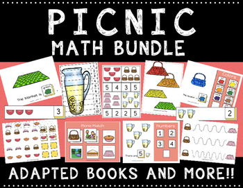 Picnic Math Bundle with Adapted Books