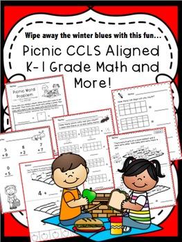 Picnic Math to Wipe Away The Winter Blues!!! CCSS kindergarten-1st grade math!