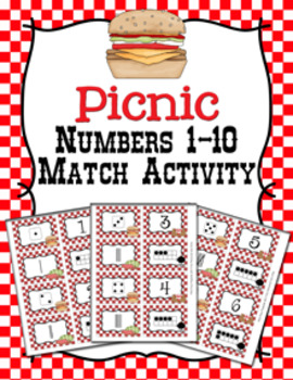 Picnic Number Match Activity