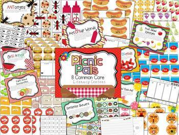 Picnic Pals 16 Common Core Literacy and Math Centers