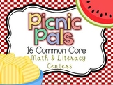 Picnic Pals 16 Common Core Literacy and Math Centers Bundle