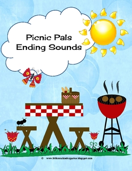 Picnic Pals Ending Sounds Literacy Center