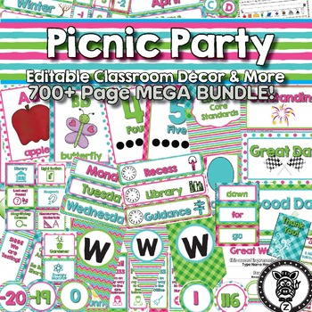 Picnic Party Classroom Theme