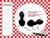Picnic Party Pack (Patterns, Ants & Ant Trails) Graphic Elements